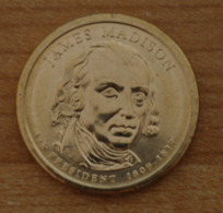 Président James Madison 2007 - 1 Dollars - USA - Atelier D - Federal Issues