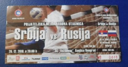 Handball - Ticket - Serbia - Russia / Srbija - Rusija - 26.12.2010 - Tickets - Entradas