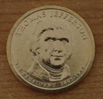 Président Thomas Jefferson 2007 - 1 Dollars - USA - Atelier D - Federal Issues