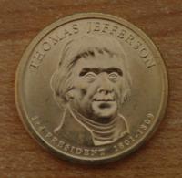 Président Thomas Jefferson 2007 - 1 Dollars - USA - Atelier P - Federal Issues