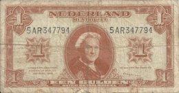 PAYS-BAS 1 GULDEN 1945 VG+ P 70 - [2] 1815-… : Regno Dei Paesi Bassi