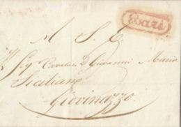 1860 Involucro Da Bari A Giovinazzo - 1. ...-1850 Prefilatelia