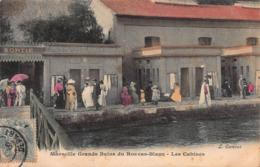 CPA Marseille - Grands Bains Du Roucas-Blanc - Les Cabines - Endoume, Roucas, Corniche, Spiaggia