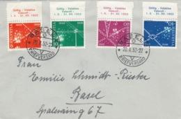LETTRE. SUISSE. SERIE 1952. TELECOMUNICATIONS. BASEL POUR BASEL  / 3 - Schweiz