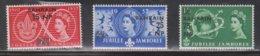 BAHRAIN Scott # 115-17 MH - QEII Jubilee Jamboree - GB Stamp With Overprint - Bahrain (...-1965)