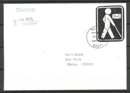 ESTONIA Estland 1997 R-Brief Mit Marke Für Sehbehinderten Stamp Of Union Of The Blind People Of Estonia - Estonie