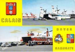 "* Lot 2 Cartes * AEROGLISSEUR Hovercraft - "" HOVERLLOYD "" ( Calais ) DouvresHydrofoil Luftkissenfahrzeug - CPM GF - Aéroglisseurs"