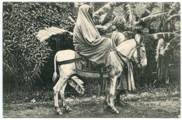 CPA Yémen * ADEN Arabian Lady Donkey Rider ( Femme Arabe Cavalière Sur âne ) Excellent état - Yemen