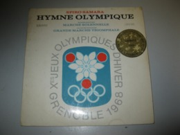 VINYLE HYMNE OLYMPIQUE DES JO GRENOBLE 1968 45 T ERATO (REF : LDEV 505) - Vinyles