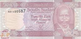 SOUTH SUDAN 25 PIASTRES 2011 PICK 3 UNC RARE - Sudan