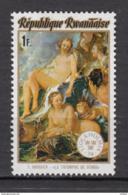 Rwanda, Boucher, Triomphe De Vénus, Mythologie, Mythology, Femme Nue, Nu, Nude Woman, Exposition Philatélique - Mythologie