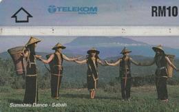MALASIA. Sumazau Dance-Sabah. 10RM. 501B. MLS-L-43a. (009) - Malasia