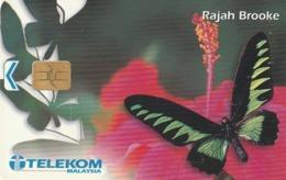 MALASIA. MARIPOSAS - BUTTERFLY. 10RM. Rajah Brooke. MLS-C-AW. (042) - Mariposas