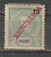 GUINE CE AFINSA 101 - NOVO COM CHARNEIRA - SOBRECARGA DESLOCADA - Guinea Portuguesa