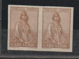 CABO VERDE CE AFINSA 199 - PROVA EM PAR NÃO DENTEADO - Islas De Cabo Verde
