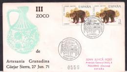 España - 1971 - Lettre - Cachets Spéciaux - Ours Brun - Ursus Arctos - Bären