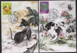 2017 Taiwan R.O.CHINA - Maximum Card.- New Year's Greeting Postage Stamps (3 Pcs.) - 1945-... Repubblica Di Cina