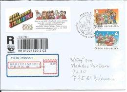 R Envelope 1030 - 1 Czech Republic Ctyrlistek (Four-Leaf Clover) 50 Years 2019 Cat Pig Hare Dog - Usati