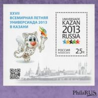 RUSSIA 2013 Mi.Block185(1940) XXVII Summer University Game./ S/s (MNH **) - 1992-.... Federazione