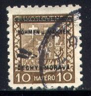 CZECHOSLOVAKIA (BOHEMIA AND MORAVIA), NO. 2 - Böhmen Und Mähren