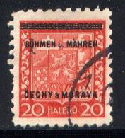 CZECHOSLOVAKIA (BOHEMIA AND MORAVIA), NO. 3 - Bohemia & Moravia