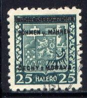 CZECHOSLOVAKIA (BOHEMIA AND MORAVIA), NO. 4 - Böhmen Und Mähren