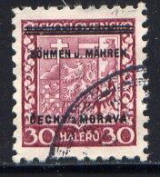 CZECHOSLOVAKIA (BOHEMIA AND MORAVIA), NO. 5 - Böhmen Und Mähren