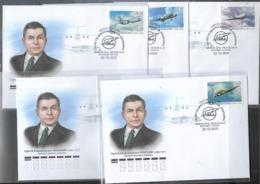 FDC Russia 2019 125th Birthday Of S.V. Ilyushin, Aircraft Designer Used CTO - 1992-.... Föderation