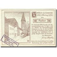 Billet, Autriche, Oftering, 50 Heller, Château 2, 1920 SPL Vert Mehl:FS 706c - Austria