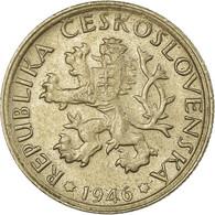 Monnaie, Tchécoslovaquie, Koruna, 1946, TB+, Copper-nickel, KM:19 - Czechoslovakia