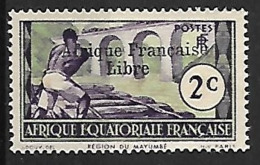 A.E.F. N°157 N**  Variété Sans Cédille  FRANCE LIBRE - A.E.F. (1936-1958)