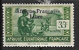 A.E.F. N°164 N**  Variété Sans Cédille  FRANCE LIBRE - A.E.F. (1936-1958)