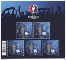 Bloc N° 137 Championnat D'europe 2016 En France, Faciale 1 €; X 5 - Blocs & Feuillets