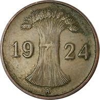 Monnaie, Allemagne, République De Weimar, Reichspfennig, 1924, Berlin, TTB - [ 3] 1918-1933 : Weimar Republic