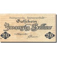 Billet, Autriche, Schwanenstadt, 20 Heller, église 2, 1920, SPL Mehl:FS 977Ia - Austria