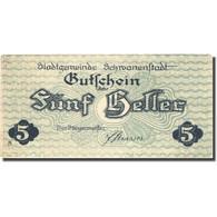 Billet, Autriche, Schwanenstadt, 5 Heller, Eglise, 1920 SPL Mehl:FS 977Ia - Austria