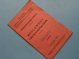 REGLEMENT Van INWENDIGE ORDE ( Geneeskundige Dienst ) Onderlingen Bijstand Te Antwerpen > Anno 1942 ( Zie Foto's ) ! - Décrets & Lois