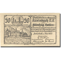 Billet, Autriche, Kreisbach, 50 Heller, Chateau 1, 1920-12-31, SPL Mehl:FS 386 - Austria