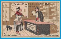 IMAGE AU PETIT PARIS REIMS / TOURS IMP GIBERT-CLAREY / CHEZ LE POTARD OU EST LE MALADE - Autres