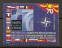 NORTH MACEDONIA,MAZEDONIEN, 70TH ANNIVERSARY OF NATO,FLAG,MNH - Macedonia