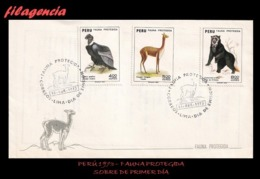 AMERICA. PERÚ SPD-FDC. 1973 FAUNA PROTEGIDA DEL PERÚ - Pérou
