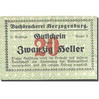 Billet, Autriche, Herzogenburg, 20 Heller, Gare, SPL, Mehl:FS 370 - Austria