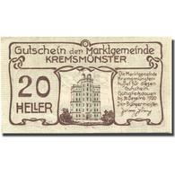 Billet, Autriche, Kremsmünster, 20 Heller, Monument, 1920, SPL Mehl:FS 476Ia - Austria