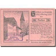 Billet Autriche Oftering 20 Heller, Château 1, 1920-04-18 SPL Rose Mehl:FS 706c - Austria