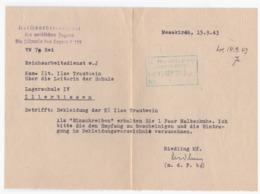 Dt.-Reich (002965) Propaganda Reichsarbeiterschaft Der Weiblichen Jugend, Die Führerin Des Lagers 8/122, Lagerschule IV - Deutschland