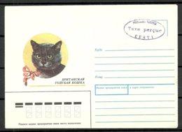 Estland Estonia 1991 Provisional Handstamp Surcharge TAXE PERCUE Stationery Cover Cat Katze - Estland