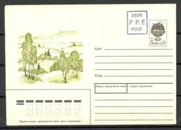 Estland Estonia 1991 Provisional Handstamp Surcharge P.P.E. Stationery Cover - Estland
