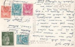 RHONE CP 1956 OUILLINS SUR TIMBRE TAXE GERBES - Marcophilie (Lettres)