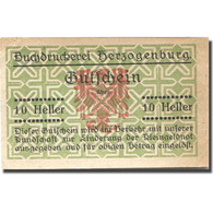 Billet, Autriche, Herzogenburg, 10 Heller, Blason, SPL, Mehl:FS 370 - Austria