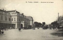 Tonkin HANOI Avenue De La Gare Voitures Pousses Pousses RV - Viêt-Nam